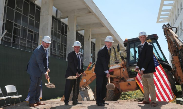 Ambassador Pyatt with Mayor of Athens Kaminis at the Official U.S. Embassy Renovation Groundbreaking (State Department Photo)