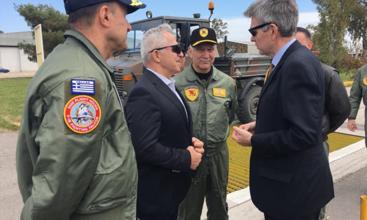 AmbPyatt congratulates Minister Apostolakis, CHOD Gen. Christodoulou and Air Chief Gen. Blioumis on #Iniohos2019 and Greece's leadership role in advancing regional security.