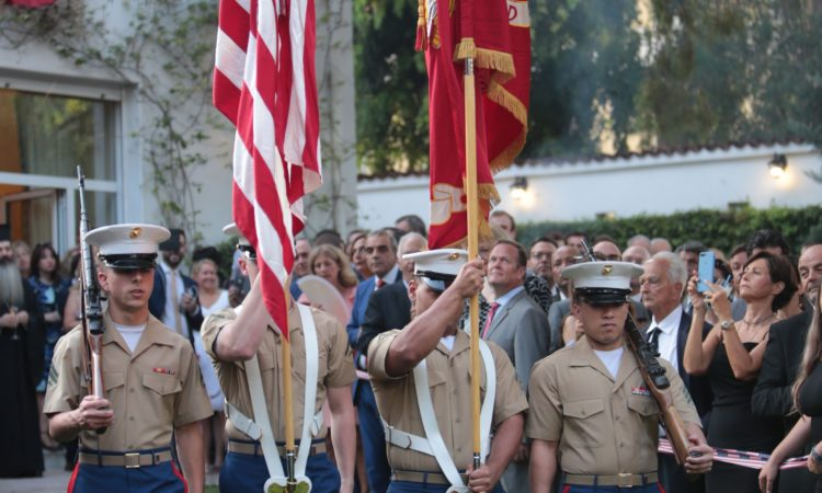 U.S. Marines at the 4th of July Celebration (State Department Photo)