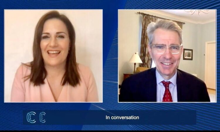 Ambassador Pyatt in Conversation with journalist Alexia Tasouli at Olympia Forum (Screenshot)