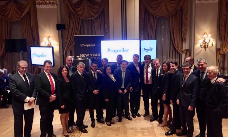 Ambassador Pyatt at Propeller's Club Pita Cutting reception