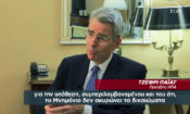 Ambassador Pyatt's interview to SKAI TV (Screenshot)