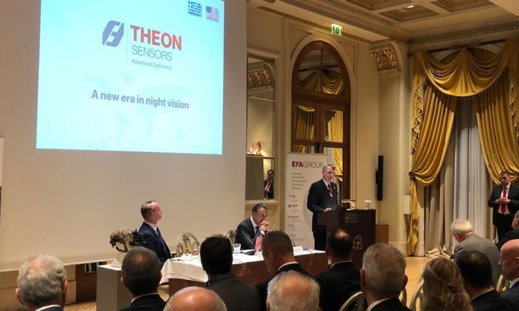 Ambassador Pyatt delivers remarks at Theon Sensors Signing Ceremony (State Department Photo)
