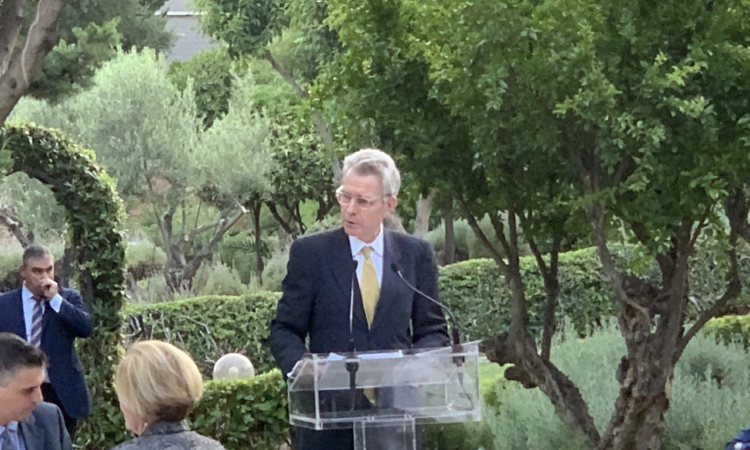 Ambassador Pyatt delivers remarks at AMCHAM USA Pavilion (State Dept Photo)