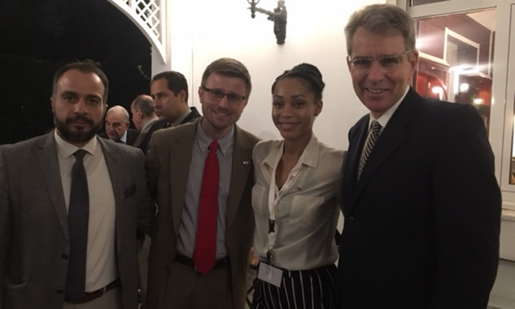Ambassador Pyatt at the reception in honor of Trade Winds (State Department Photo)