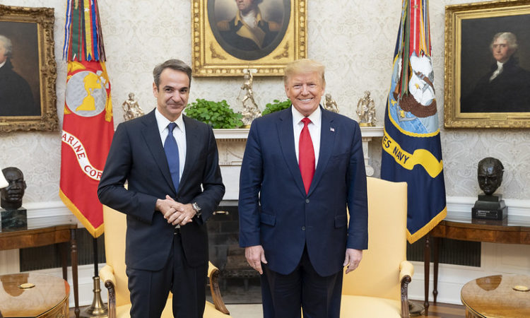 Greek PM Kyriakos Mitsotakis with President of the U.S. Donald Trump (White House Photo)
