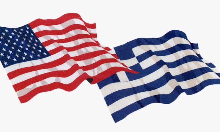 U.S. - Greek Flags