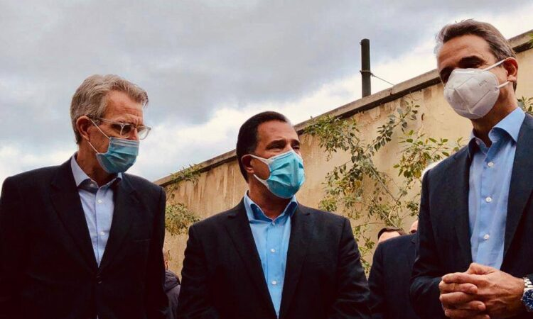 Ambassador Pyatt with Minister Georgiadis and Prime Minister Mitsotakis (State Department Photo)