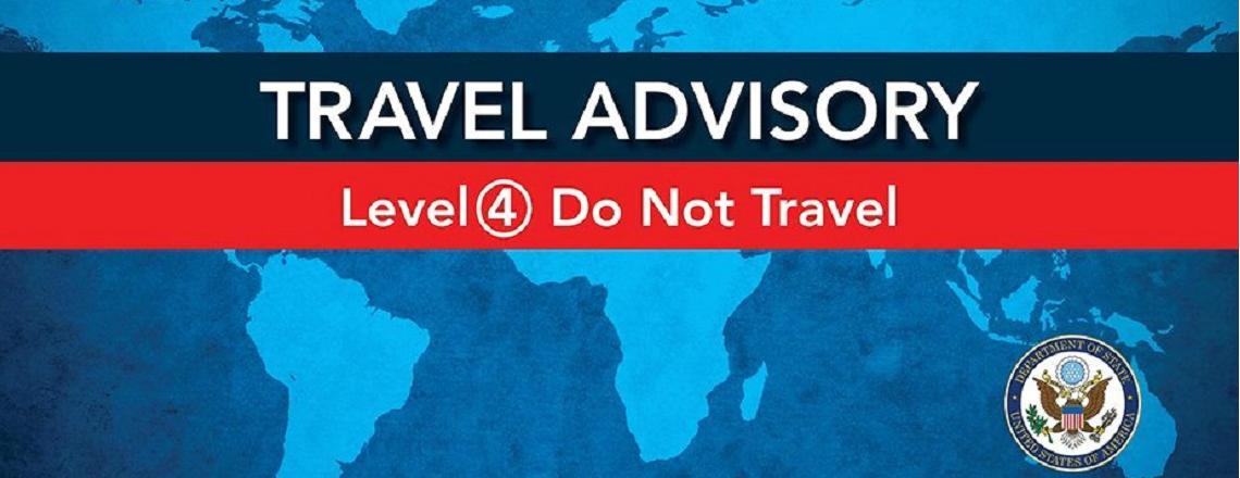 Четвертый уровень опасности – не отправляйтесь в путешествие.