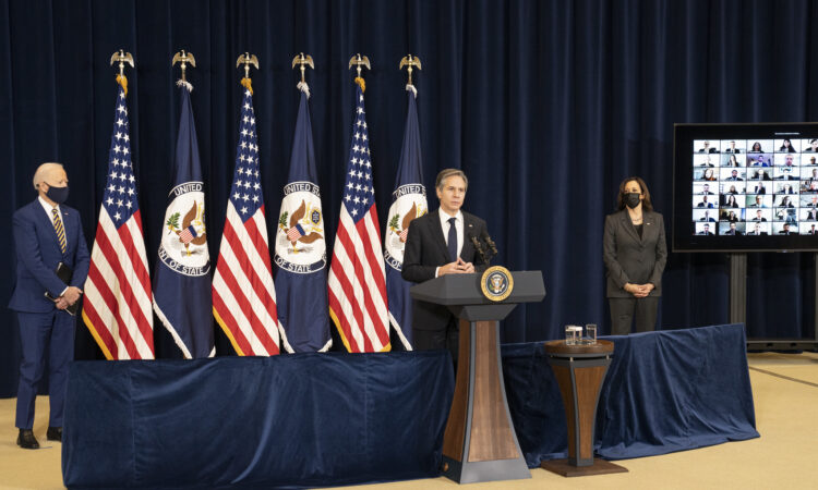 Secretary Blinken Introduces President Biden and Vice President Harris