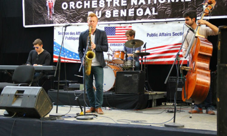 The Adam Larson Quartet at Douta Seck Cultural Center (Photo US Embassy)