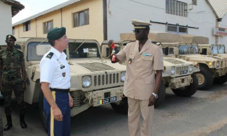 The U.S. military recently gave 23 American High Mobility Multipurpose Wheeled Vehicle (HMMWV), commonly known as the Humvee to the Senegalese Armed Forces. (Photo U.S. Embassy)