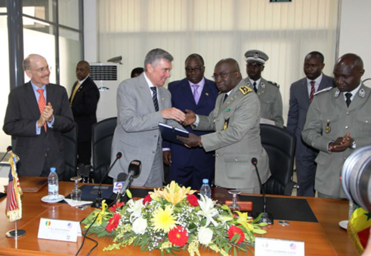 CBP Commissioner R. Gil Kerlikowske and Director General Papa Ousmane Gueye sign customs mutual assistance agreement (US Embassy photo)