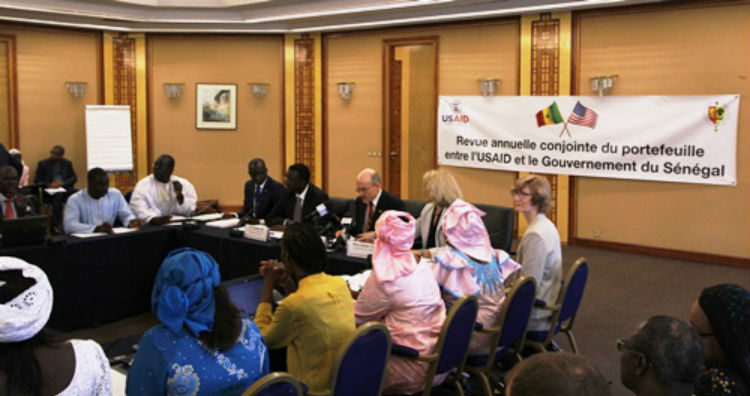 Minister Amadou Ba and Ambassador Zumwalt presided over the annual Joint Portfolio Review between the Government of Senegal and USAID. (Photo US Embassy)