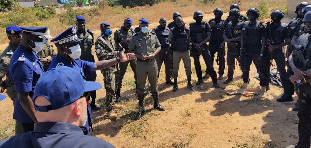 La gendarmerie nationale travaille avec le «Bureau International de Lutte contre les Stupéfiants et de l'Application de la loi (INL) » des États-Unis sur une formation cruciale pour la paix et la sécurité