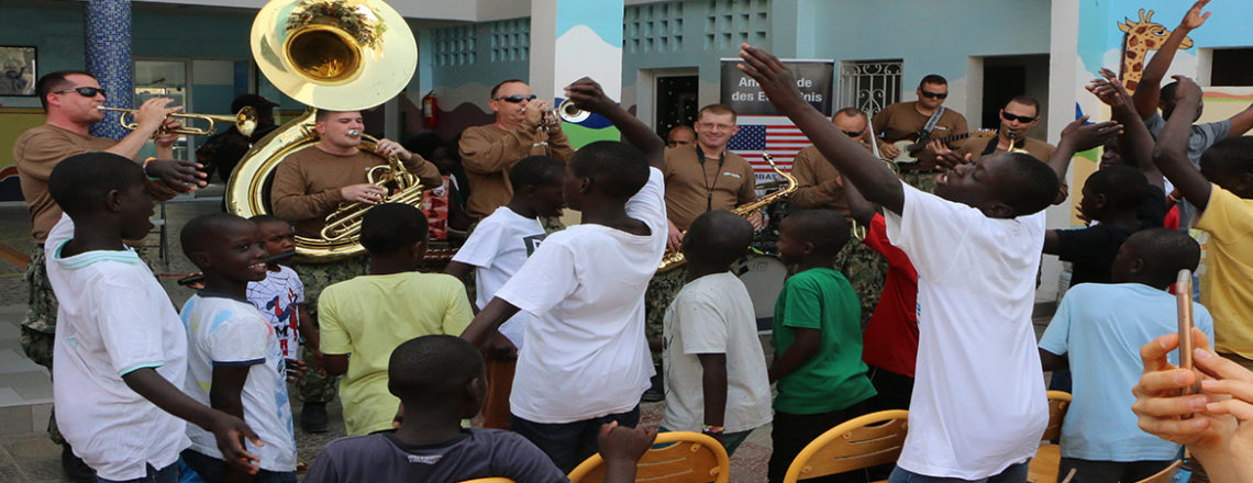 "U.S. Naval Forces Europe ""Topside Brass Band"" Visits Senegal"