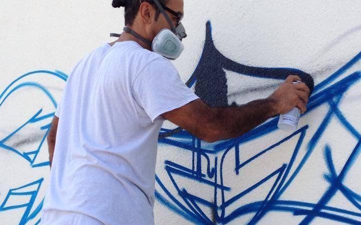 Mario Gonzalez (ZORE) tagging the U.S. Consulate General Frankfurt (Photo: State Department)