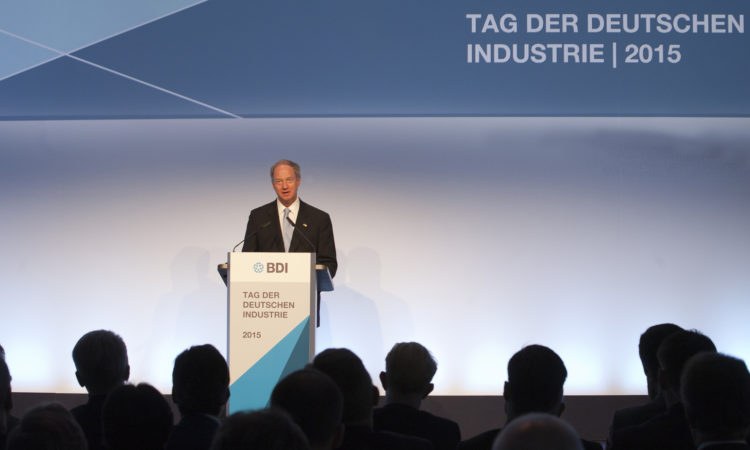 Ambassador Emerson speaking at the Day of German Industry
