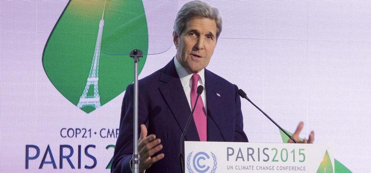 John Kerry während seiner Rede