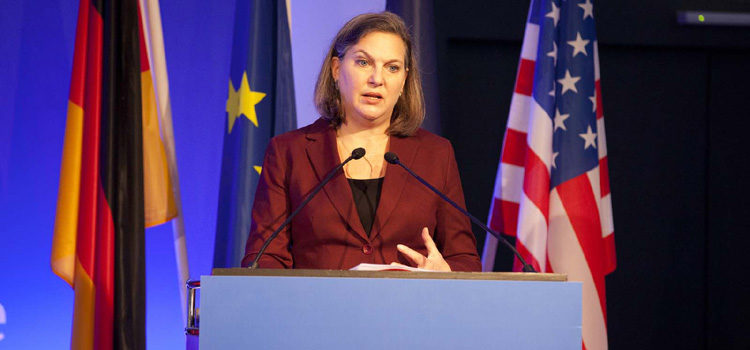 Miss Nuland at the conference