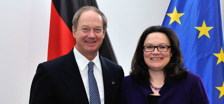 The Ambassador and Miss Nahles