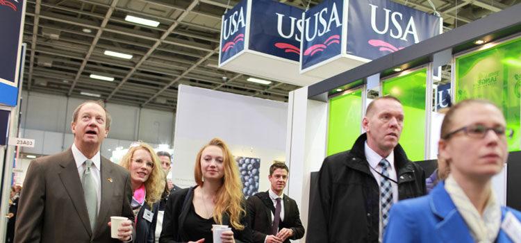 Ambassador Emerson visiting the USA Pavilion