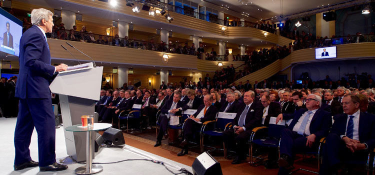 Secretary Kerry Addresses Delegates, Fellow Foreign Ministers During Speech at Munich Security Conference in Germany