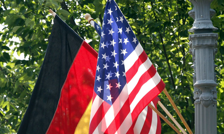 German and American flag