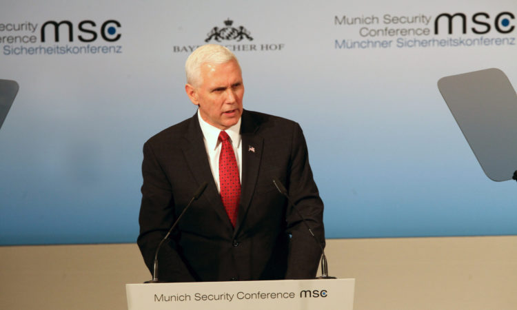 U.S. Vice President Mike Pence Visited Germany to Take Part in the Munich Security Conference