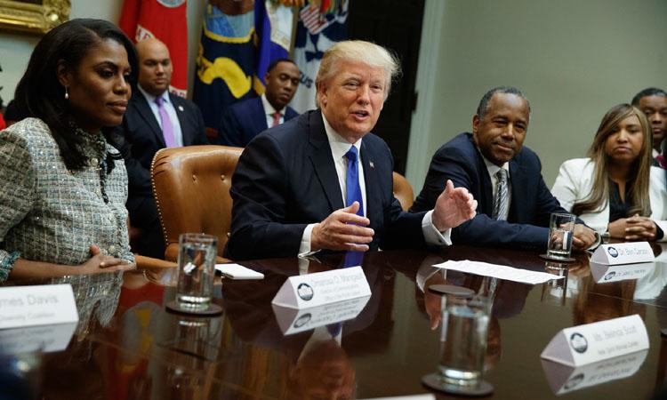 Präsident Trump läutete den African American History Month mit einem Treffen im Weißen Haus ein