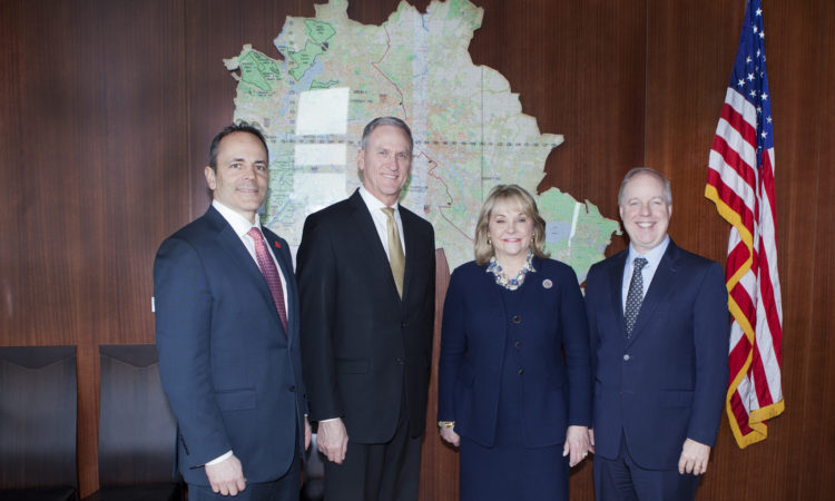 The Governors of Kentucky, South Dakota and Oklahoma with Chargé d'Affaires Kent Logsdon