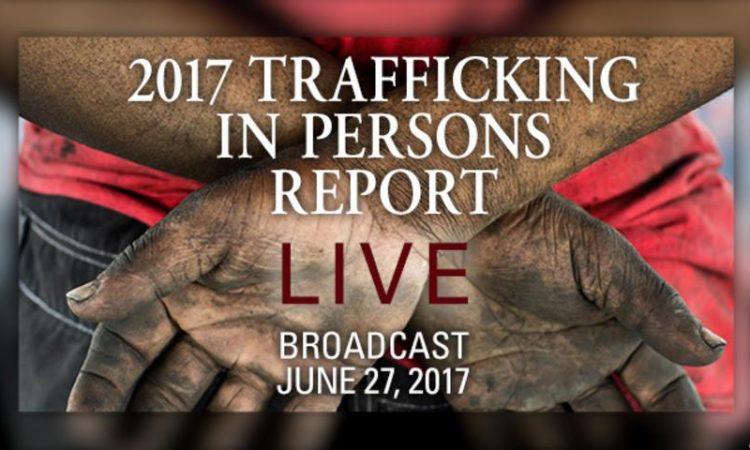 Titelseite des Berichts zum Menschenhandel 2017 (Foto: US-Außenministerium)