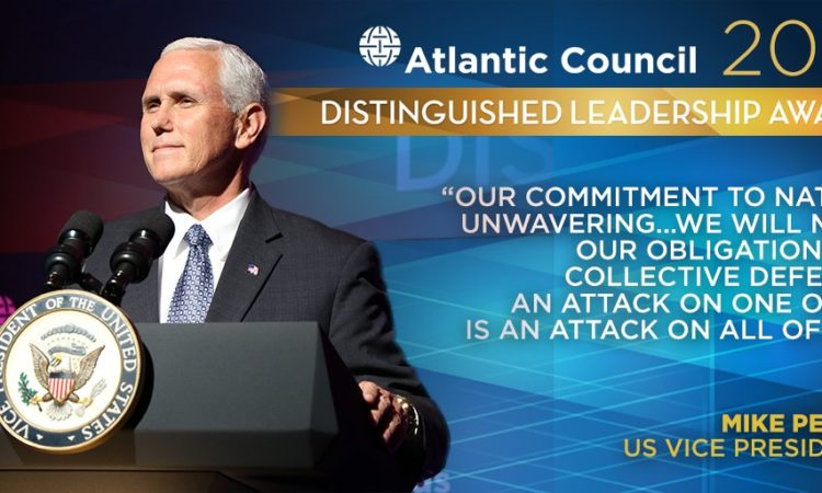 Ankündigung des Atlantic Council Distinguished Leadership Awards 2017 mit US-Vizepräsident Mike Pence (Foto: Atlantic Council)