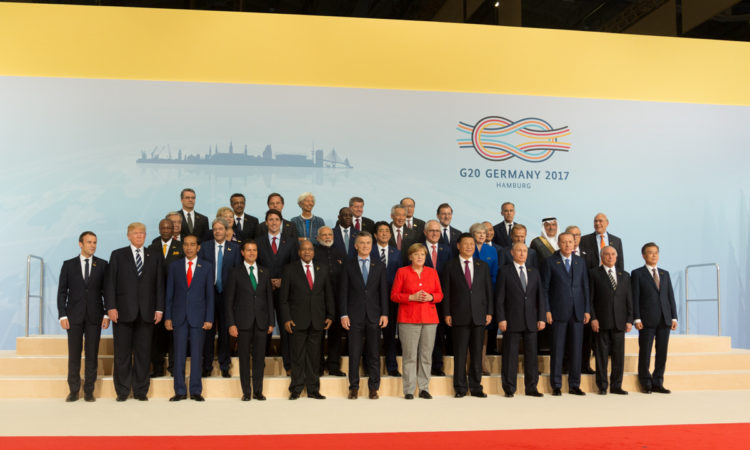 G20 family photo of world leaders