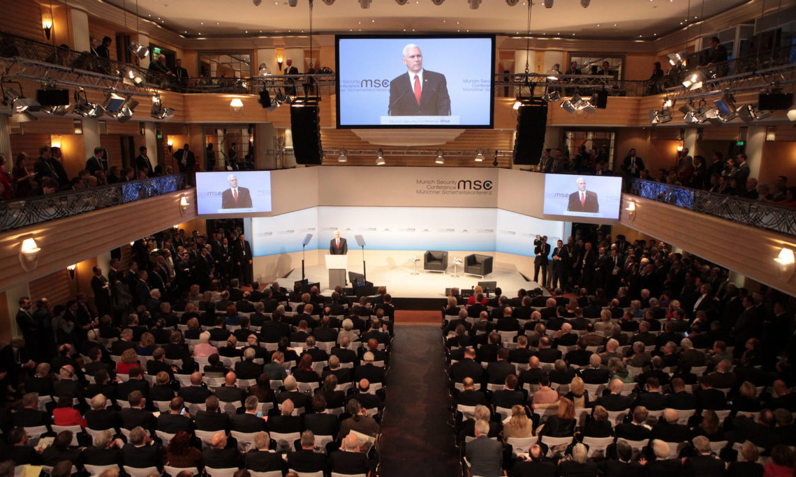 Vice President Pence speaking at the MSC 2017.