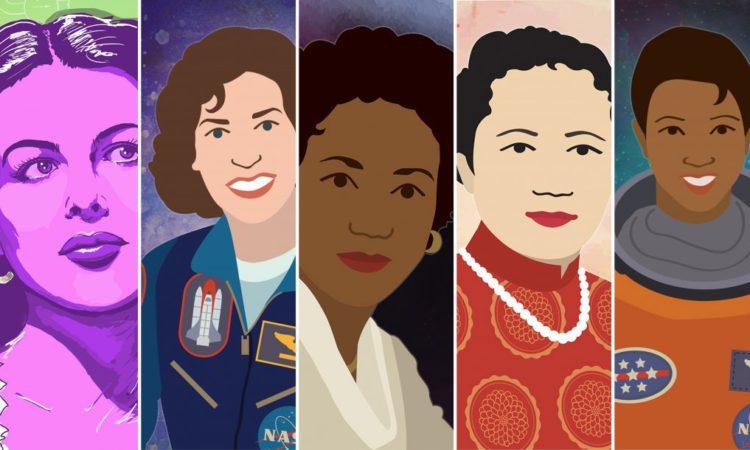 Porträtzeichnungen von fünf Frauen (Bild: Energy.gov)