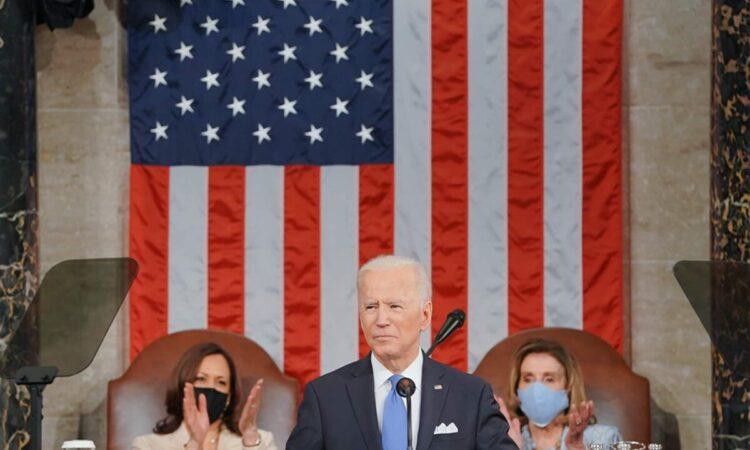 Präsident Biden bei seiner Rede vor beiden Kammern des Kongresses (Foto: Weißes Haus)