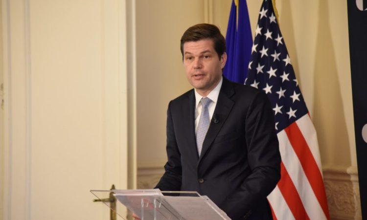 Abteilungsleiter A. Wess Mitchell im Gespräch bei Carnegie Europe (Foto: Ständige Vertretung der Vereinigten Staaten bei der EU)