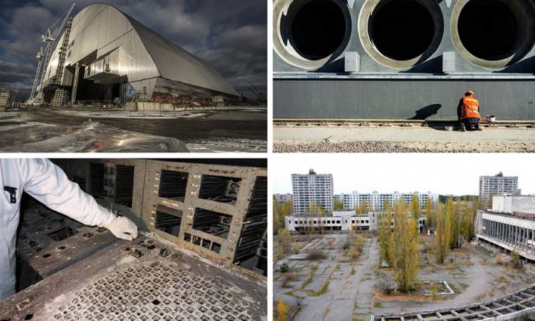 Tschernobyl wird daran gearbeitet, das Kraftwerk und die Umgebung sicherer zu machen.