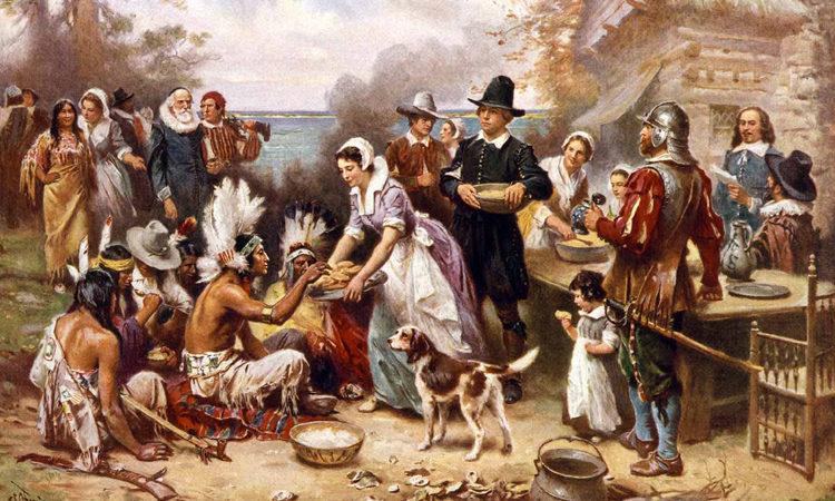 Das erste Thanksgiving (1915), Gemälde von Jean Louis Gerome Ferris