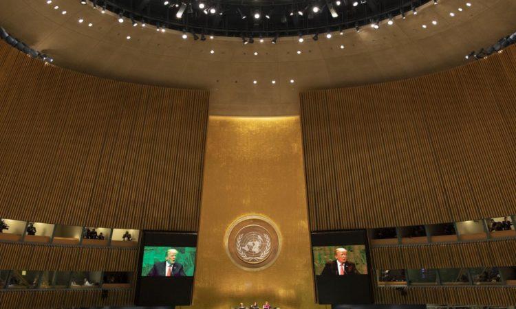US-Präsident Trump spricht bei der Vollversammlung der Vereinten Nationen (Foto: Weißes Haus)