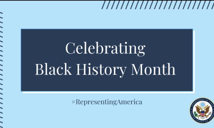 """Banner mit der Aufschrift """"Celebrating Black History Month"""""""