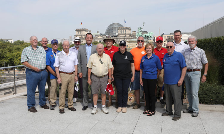 Berlin military police veterans with Ambassador Grenell