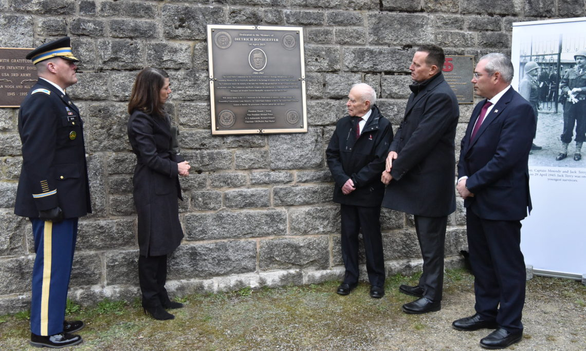 Ambassador Grenell lays a wreath at the Dietrich Bonhoeffer memorial in Flossenbürg Concentration Camp