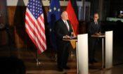 Pressekonferenz im Alten Rathaus Leipzig: US-Außenminister Pompeo mit Bundesaußenminister Maas