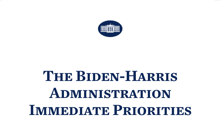The Biden-Harris Administration Immediate Priorities