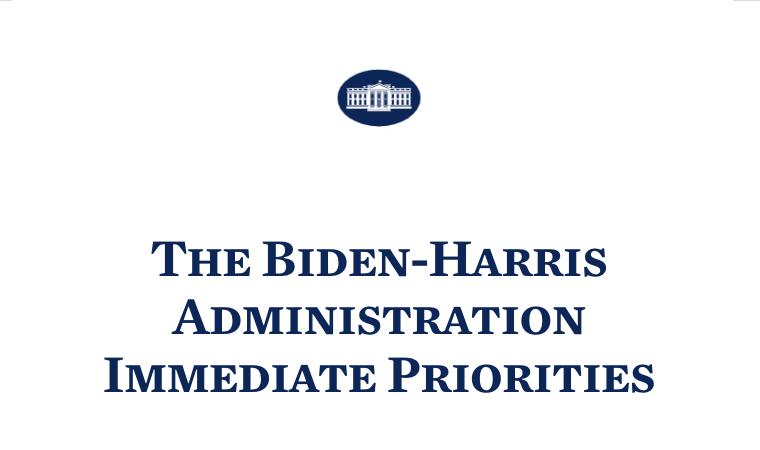 The Biden-Harris Administration Immediate Priorities