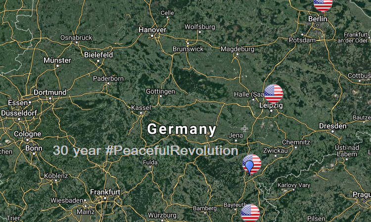 map Germany Pompeo trip