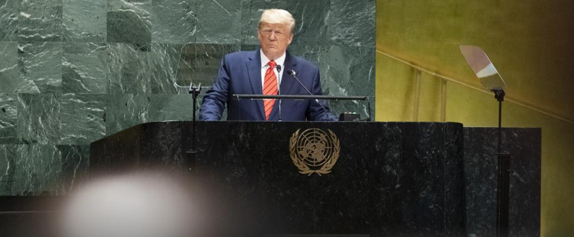 US-Präsident Trump bei der Vollversammlung der Vereinten Nationen (Foto: Weißes Haus)