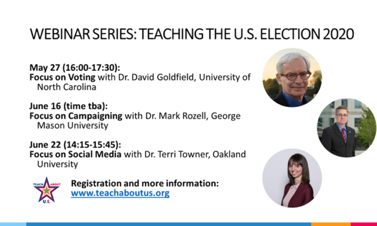webinar series on Teaching the U.S. Election 2020